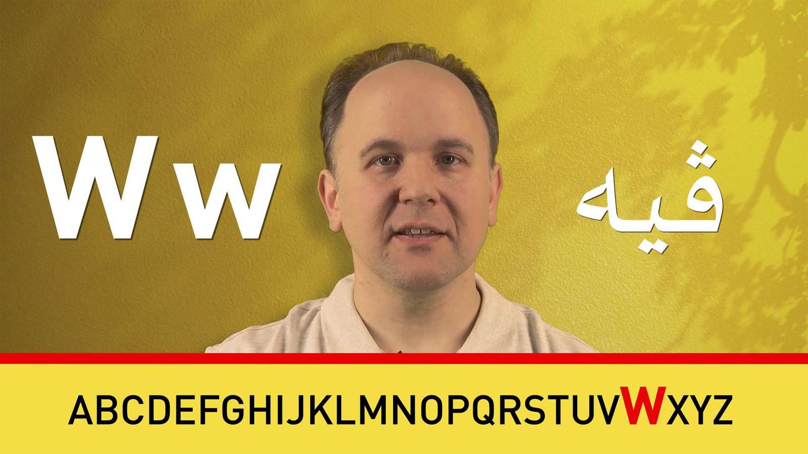Lern Deutsch bei Peter: Alphabet